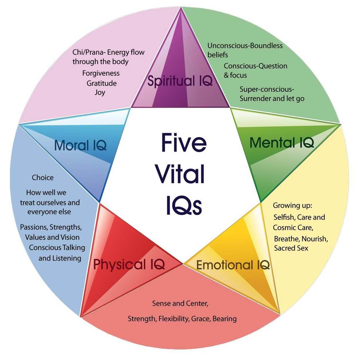 Your Five Vital Intelligences/IQs